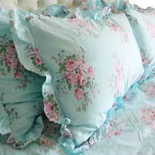 blue rose bedding set blue shabby chic bedding