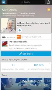 the complete guide to the perfect linkedin profile check your profile in the mobile linkedin app