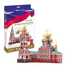 3D пазл <b>Cubic Fun Рождественская церковь</b> Россия MC191h 3D ...
