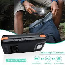 Portable 5 Panels <b>Solar</b> Chargers <b>Outdoor Solar</b> Backup Battery ...