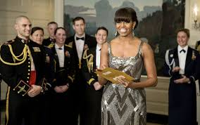 Michelle Obama presenting an Oscar