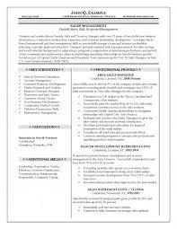 Sales Manager Resume Free Resume Templates