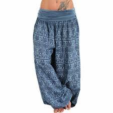 Feitong <b>Women Bohemian</b> Long Pants <b>2019</b> Low Waist Vintage ...