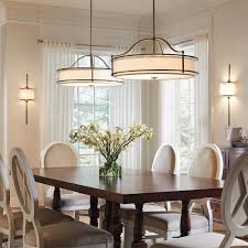 Rectangular Dining Room Lighting Dining Room Dining Room Green Curtains Blue Glass Chandelier High