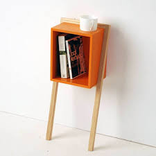 ideas bedside tables pinterest night: bedroom design simple wall mounted bedside table with modern orange wooden table also smart book storage and small white cup adding modern looks into your