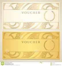 voucher gift certificate coupon template stock photography voucher gift certificate coupon template