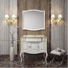 <b>Opadiris Лаура 100</b> Комплект мебели, цвет: белый с золотой ...