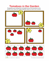 Cut and Paste Math | Education.comCount the Tomatoes