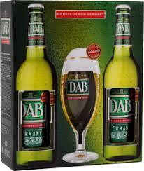 "Винный <b>набор</b> ""DAB"" Dortmunder Export, set of <b>2 bottles</b> & 1 glass ..."