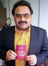Altaf Hussain with his British passport, granted in 2002. The MQM's most vocal critic today is cricketer-turned-playboy-turned-Islamist-politician Imran ... - Altaf-Hussain-with-his-Br-001