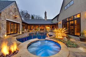 U Shaped House Pool Design Ideas  Remodels  amp  PhotosSaveEmail