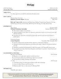 Sample Resume Biology Degree Augustais