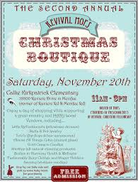 revival mops nd annual christmas boutique fundraiser menifee