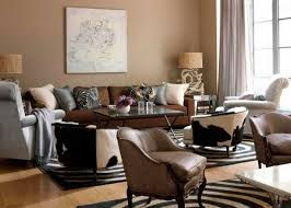 living room design ideas in brown and beige leather armchairs wood flooring brown living room furniture ideas
