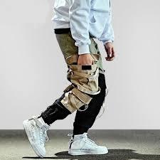 Contrast Color Tactical <b>Hip</b> Hop Street Wear Styles <b>Men</b> Jogger ...