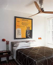 greenwich village townhouse guest bedroom inspiration for a contemporary guest bedroom remodel in new york with fancy ceiling fans bedroom decor ceiling fan