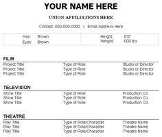 how to make a professional acting resume   ehowcreate your professional acting resume