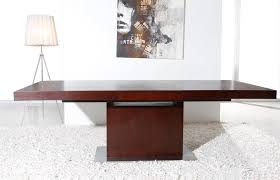 wood extendable dining table walnut modern tables: extendable dining table   b dinning extendable moder extendable dining table