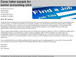 cover letter sample for senior accounting clerk account clerk cover letter