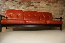 sofa scandinavian style orange leather sofa set sunpan modern home brand astounding orange leather sofa astounding red leather couch furniture