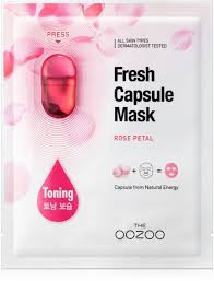 <b>THE OOZOO</b> Rose Petal Fresh Capsule Mask is a toning moisture ...