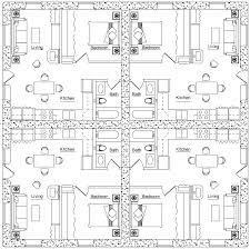 fourplex plan   Earthbag House PlansFourplex  click to enlarge