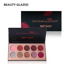 <b>Beauty Glazed Shimmer</b> Eyeshadow Palette 10 Colors Long-lasting ...