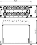 J02022A0055 - Mini Distributor MPD12-HS K <b>Cat</b>.6A - 3 <b>HU</b> / 10 PU ...