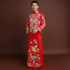 formal long robe tang suit mens vintage hanfu chinese style wedding clothes embroidery mariage peignoirs costume