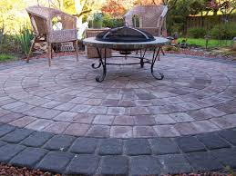 patio ideas modern paving outdoor fire
