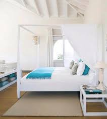 relaxing white canopy bed for beach bedroom themes with white bedside bedroom ideas beach beachy bedroom furniture