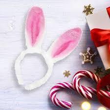<b>Ободок карнавальный</b> ''Уши Зайки'' белый с розовым - купить у ...
