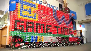 coca cola college football display comes to life in time lapse coca cola college football display comes to life in time lapse video