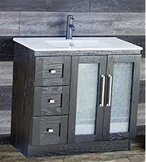 usa tilda single bathroom vanity set: elimaxs solid wood quot bathroom black vanity cabinet ceramic top sink faucet
