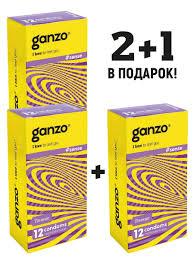 <b>Презервативы GANZO</b> SENSE, комплект 2+1 (Спайка 3 упаковки ...