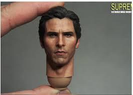 Custom <b>1/6 Scale Christian Bale</b> Bruce Head Sculpt For Hot Toys ...