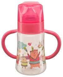 Happy Baby <b>Бутылочка с широким</b> горлом, с ручками 250 мл ...