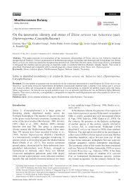(PDF) On the taxonomic identity and status of 'Silene sericea' var ...