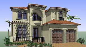 House Plan at FamilyHomePlans comCoastal Contemporary Florida Italian Mediterranean House Plan Elevation
