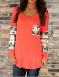 Women <b>Stylish Round Neck Long</b> Sleeve Loose Fitting Vintage ...