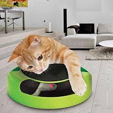 ASAB <b>Pet Cat Kitten</b> Catch The Mouse <b>Plush</b> Motion Chase <b>Toy</b> ...
