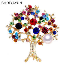 <b>SHDIYAYUN</b> 2019 Good <b>Pearl</b> Brooch Feather Brooch For Women ...