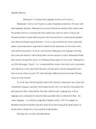 language of shakespeare s antony cleopatra cleopatra