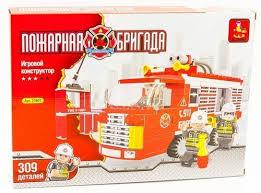 <b>Конструктор Ausini</b> «<b>Пожарная бригада</b>» (309 деталей) по цене ...