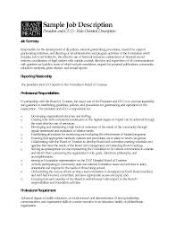 president job description sample   gadget reviews