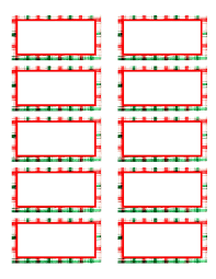 doc christmas return address labels template christmas return address labels template