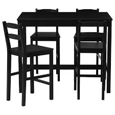 JOKKMOKK Bar table and <b>4 bar stools</b>, black-brown - IKEA