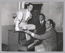 Photographic print of <b>Duke Ellington</b>, Alfredo Gustar, and <b>Billy</b> ...
