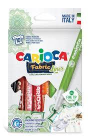 <b>Фломастеры для ткани Carioca</b> Fabric Liner 10 цветов 42909 ...