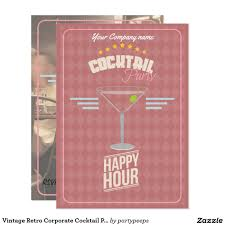 vintage retro corporate cocktail party invitation corporate vintage retro corporate cocktail party invitation